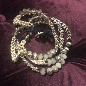 Blue/Silver Wrap Bracelete
